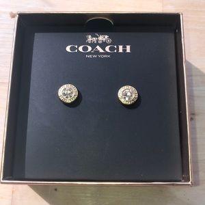Gold coach earrings